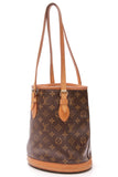 Louis Vuitton Petit Bucket Bag Monogram Brown