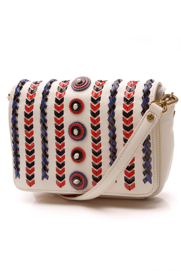 Tory Burch Braided Crossbody Bag White