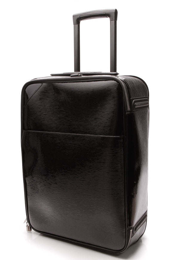 Louis Vuitton Electric Epi Pegase 55 Rolling Luggage Black