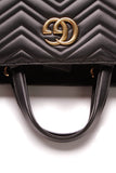 Gucci Marmont  Medium Top Handle Bag Matelasse Black