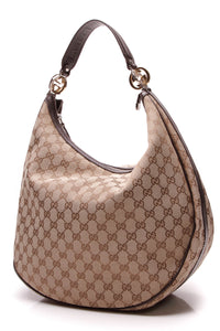 Gucci Twins Large Hobo Bag Signature Canvas Brown