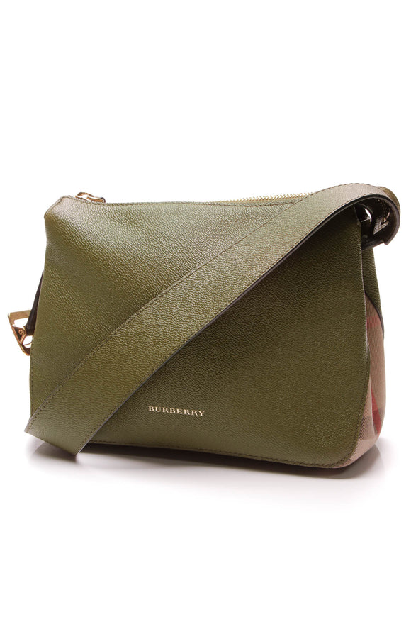 Burberry Helmsley Crossbody Bag Green House Check