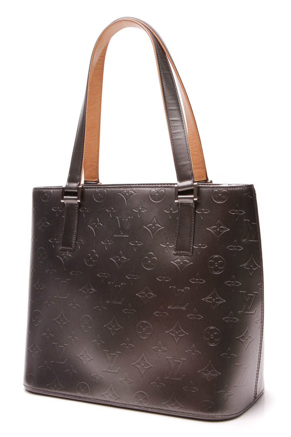 Louis Vuitton Mat Monogram Stockton Bag Gray