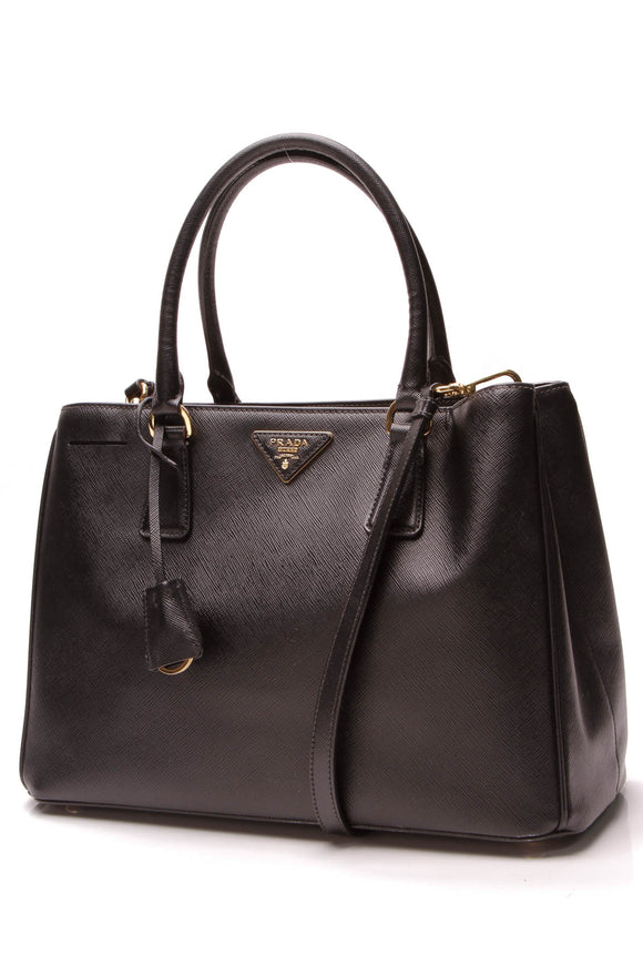 Prada Lux Medium Tote Bag Black
