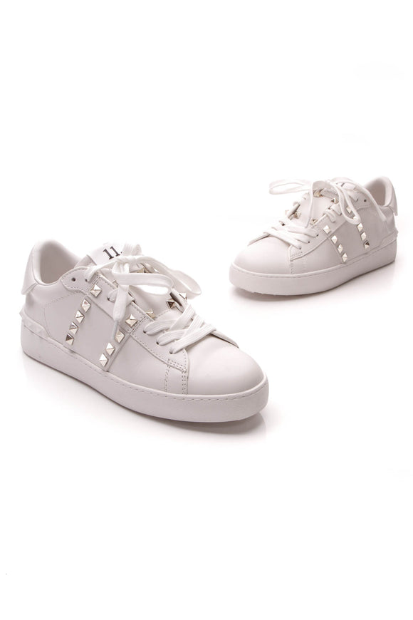 Valentino Rockstud Untitled Sneakers White Size 38