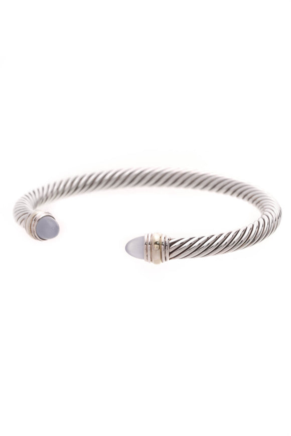 David Yurman Chalcedony 5mm Cable Classics Bracelet Silver