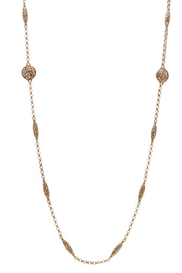 Konstantino Station Necklace Gold