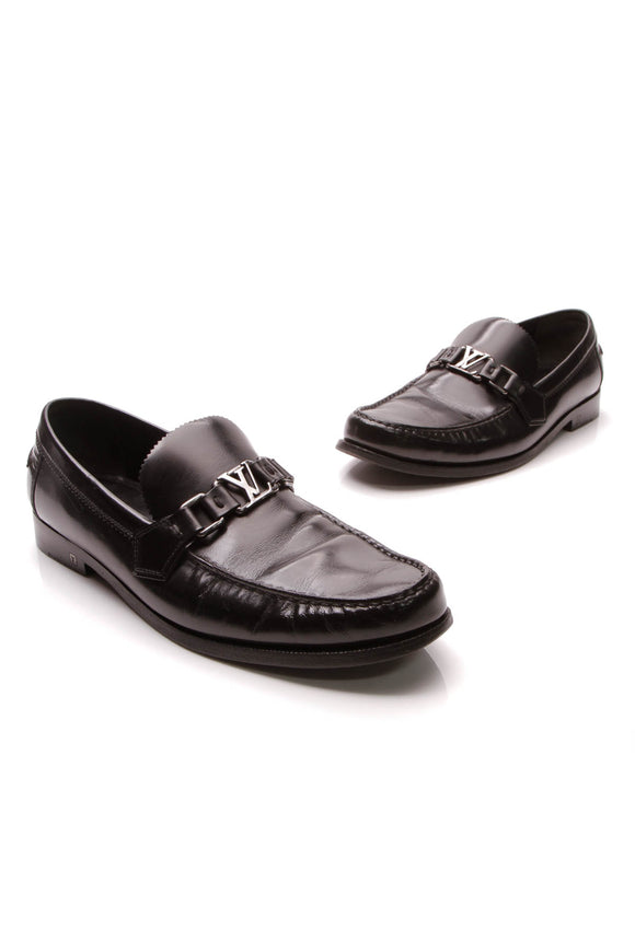 Louis Vuitton Hockenheim Men's Loafers Black US Size 9.5