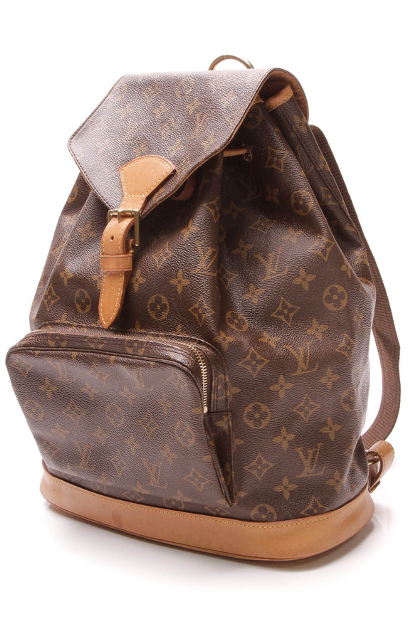 Louis Vuitton Vintage Montsouris GM Backpack Monogram Brown