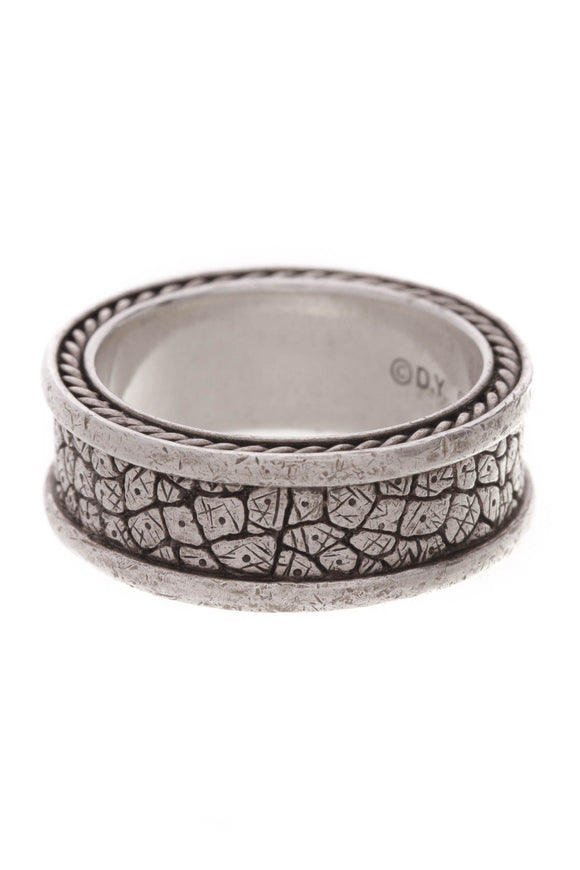 David Yurman Streamline Men's Band Ring Silver Size 10.75