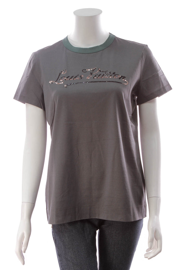 Louis Vuitton Sequin Louis Vuitton T-Shirt Dark Gray Size Extra Large