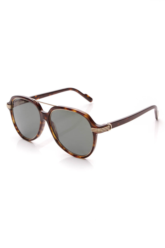 Cartier Polarized Aviator Sunglasses Tortoise
