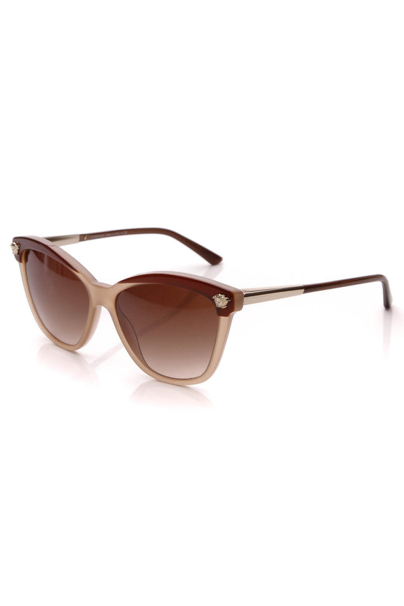 Versace Medusa Butterfly Sunglasses 4313 Beige Brown