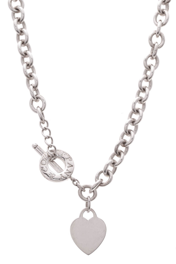 Tiffany & Co. Heart Tag Toggle Necklace Silver