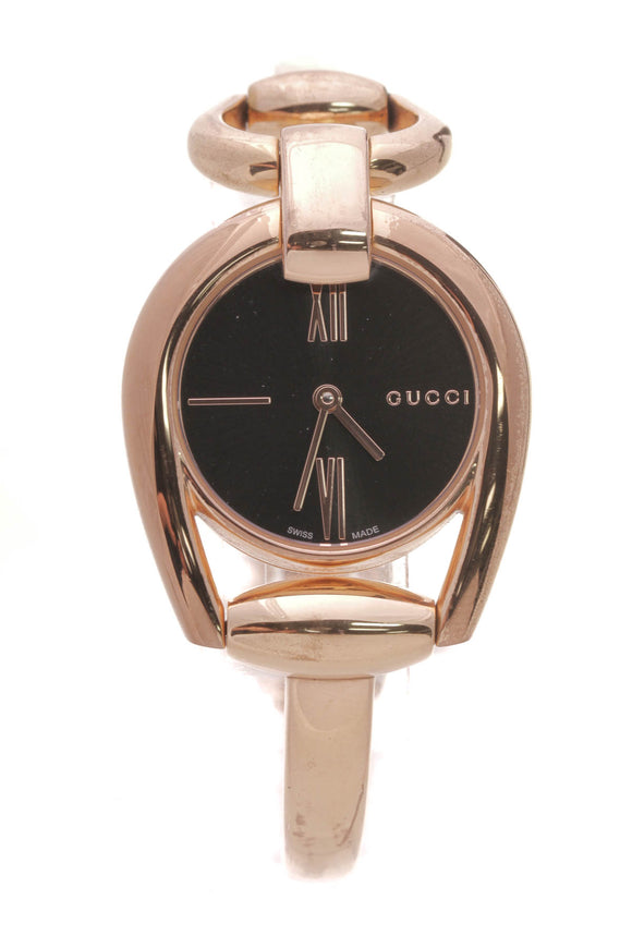 Gucci 28mm Horsebit Watch Rose Steel