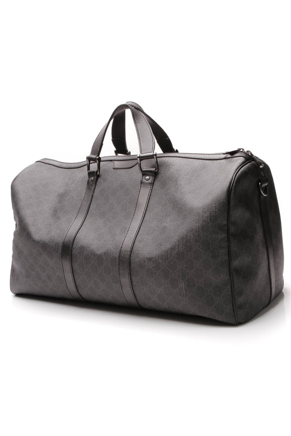 Gucci Carry-On Duffle Travel Bag Black Supreme Canvas