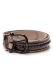 Burberry Studded Belt Black Nova Check Size 36
