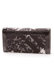 Burberry Floral Beat Check Wallet Black Gray