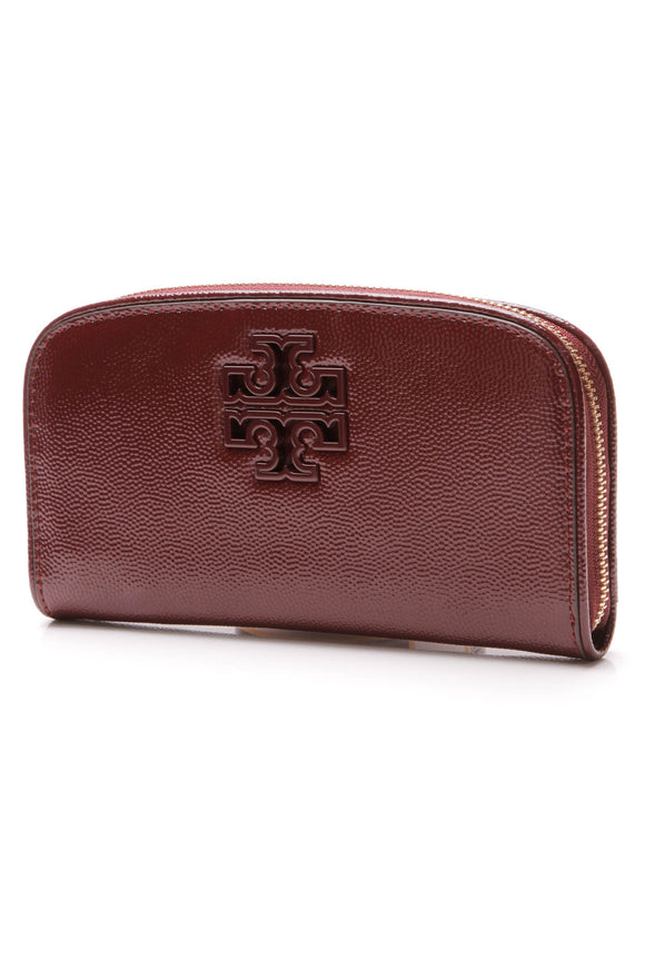 Tory Burch Britten Zip Wallet Red Agate