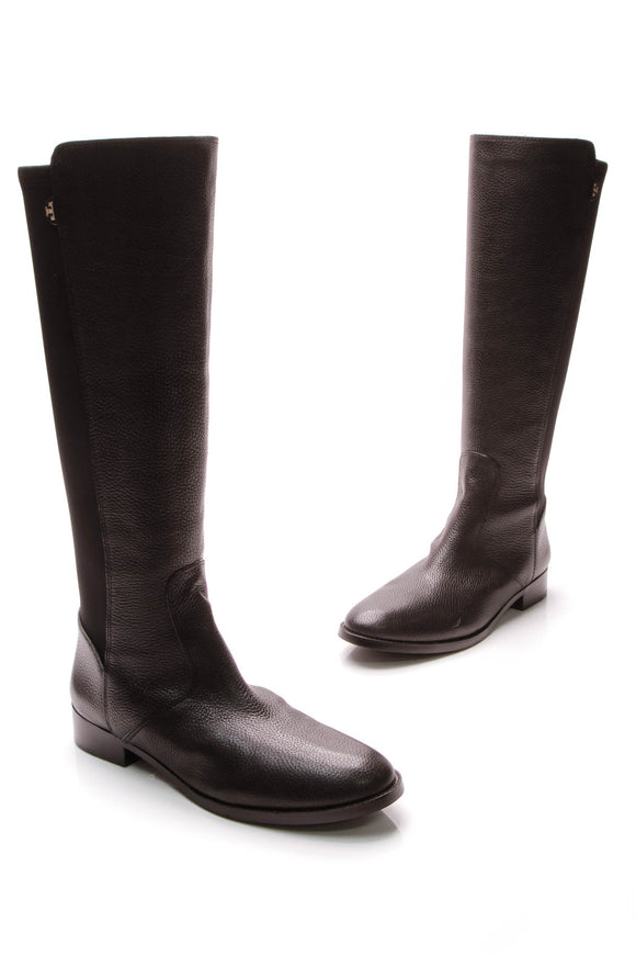 Tory Burch Selden Riding Boots Black Size 11