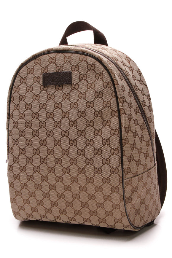 Gucci Travel Backpack Signature Canvas Brown