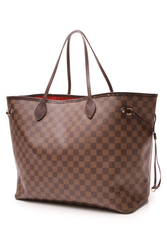 Louis Vuitton Neverfull GM Tote Bag Damier Ebene Brown