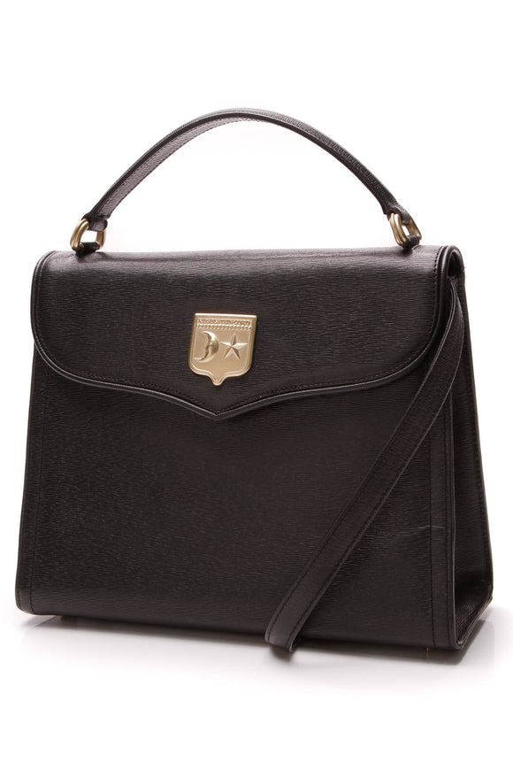 Kieselstein-Cord Top Handle Shoulder Bag Black