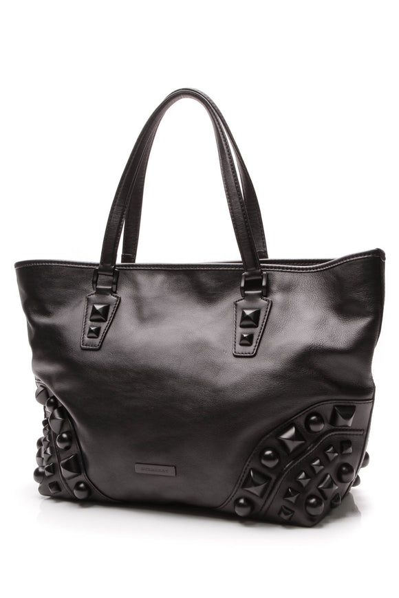 Burberry Nickie Mega Stud Tote Bag Black