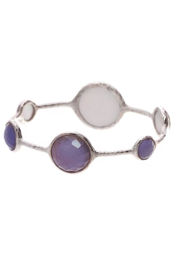Ippolita 6-Stone Rock Candy Lollipop Bracelet Silver Purple