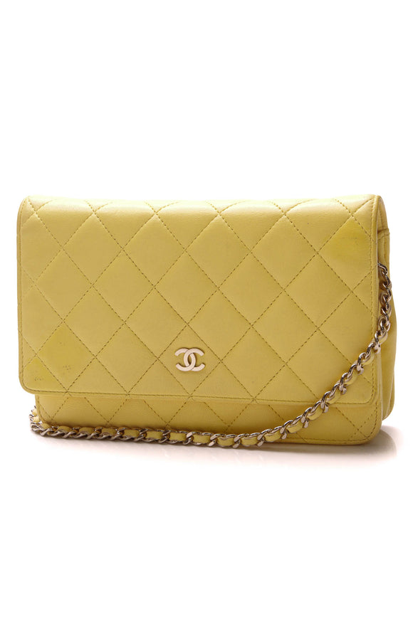 Chanel Classic WOC Crossbody Bag Yellow Lambskin