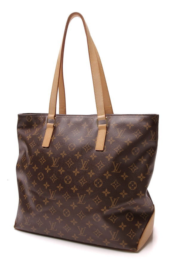 Louis Vuitton Cabas Mezzo Tote Bag Monogram Brown