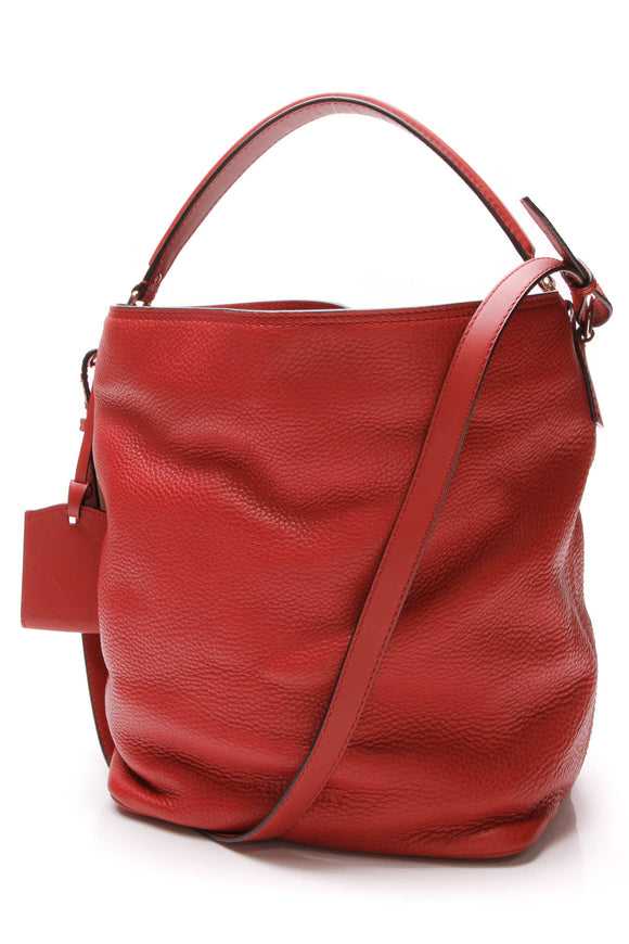 Burberry Ashby Medium Hobo bag Cadmium Red