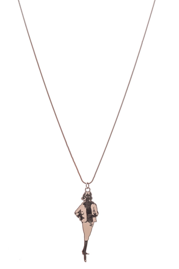 Chanel Coco Mademoiselle Necklace Gunmetal