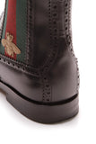 Gucci Chelsea Web Men's Boots Black US Size 8.5