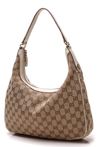 Gucci Charmy Medium Hobo Bag Signature Canvas