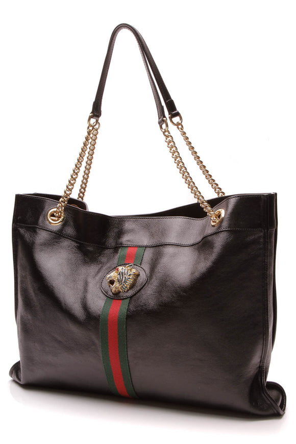 Gucci Rajah Large Tote Bag Black