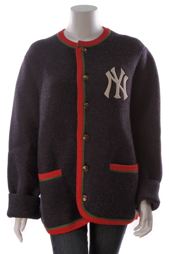Gucci New York Yankees Men's Cardigan Navy Size Extra Large
