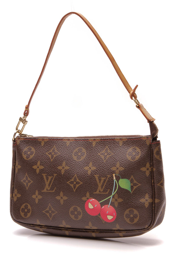 Louis Vuitton Cerise Pochette Accessories Bag Monogram Brown
