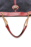 Gucci Rajah Large Tote Bag Navy Blue Red