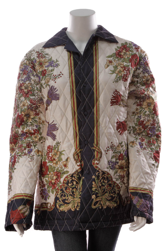 Gucci Quilted Print Men's Jacket Multicolor Size 50