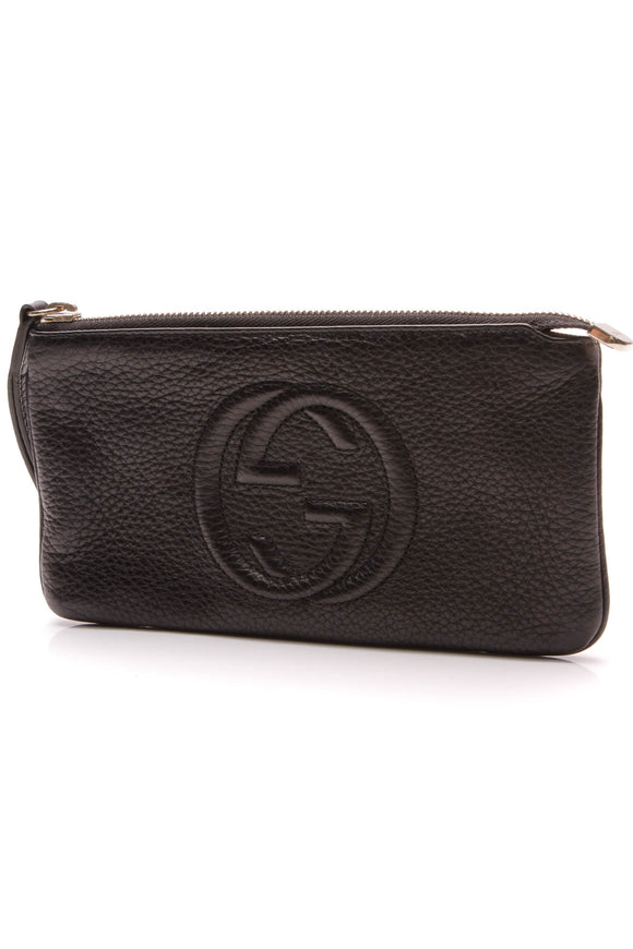 Gucci Soho Wristlet Wallet Black