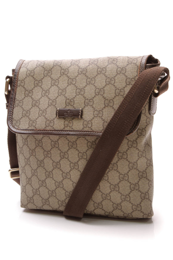 Gucci GG Plus Messenger Bag Supreme Canvas Beige