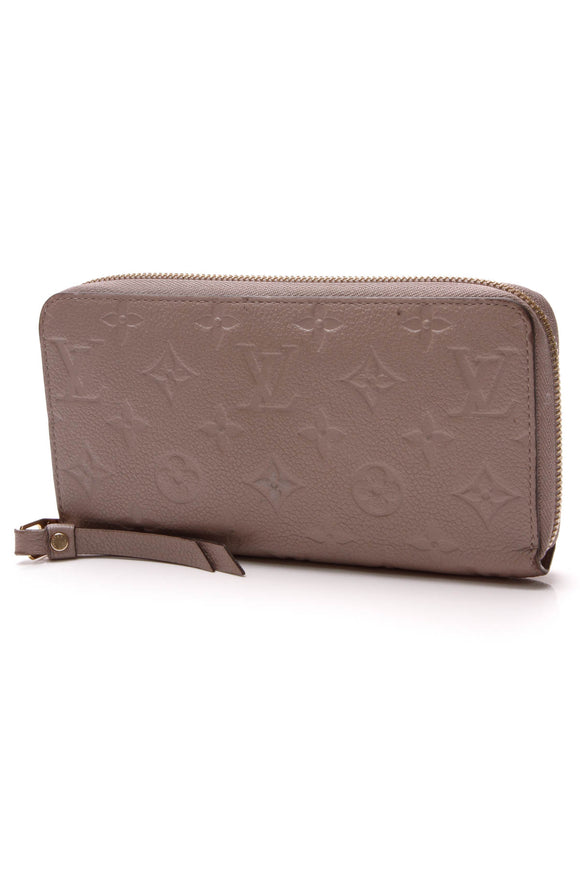 Louis Vuitton Empreinte Zippy Wallet Taupe Glace