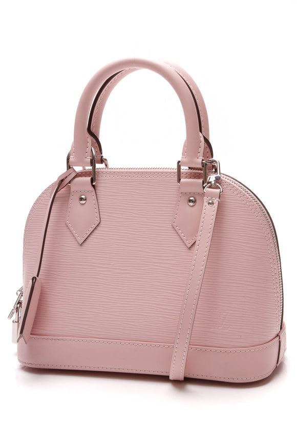 Louis Vuitton Epi Alma BB Bag Rose Ballerine