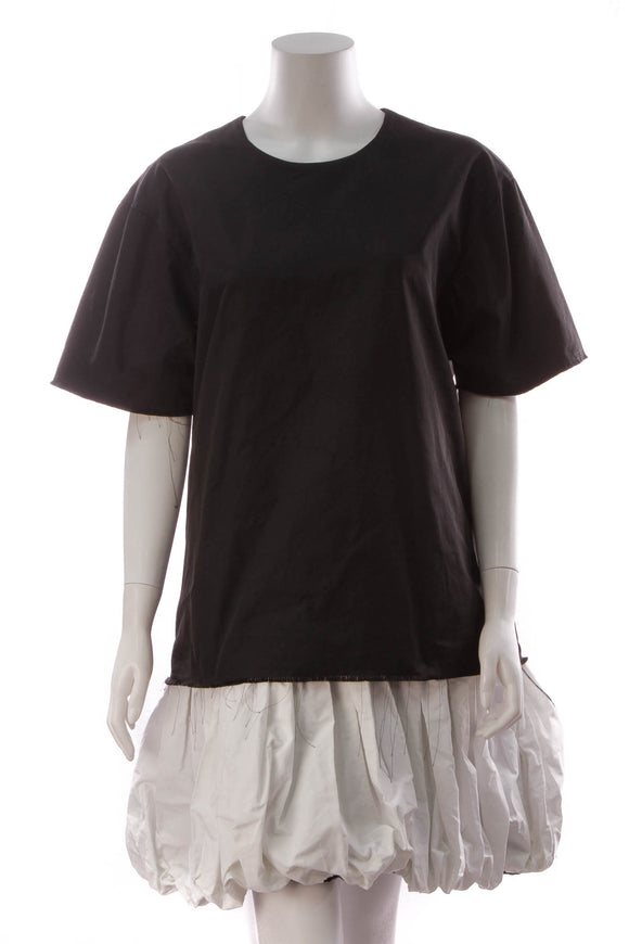 Marques Almeida Layered T-shirt Dress Black White Size Large