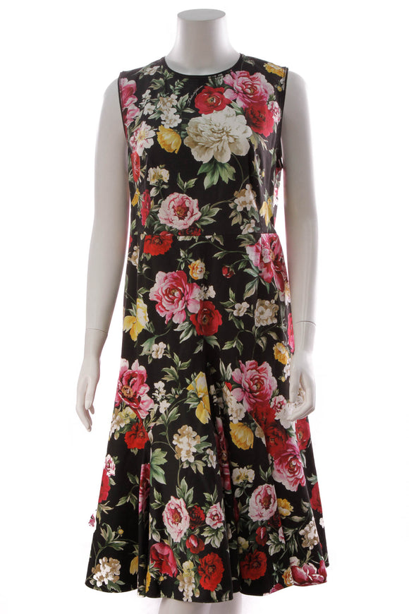 Dolce and Gabbana Floral Dress Multicolor Size 50