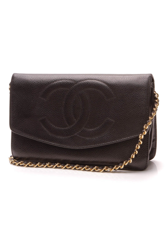 Chanel Vintage Timeless CC WOC Bag Black Caviar