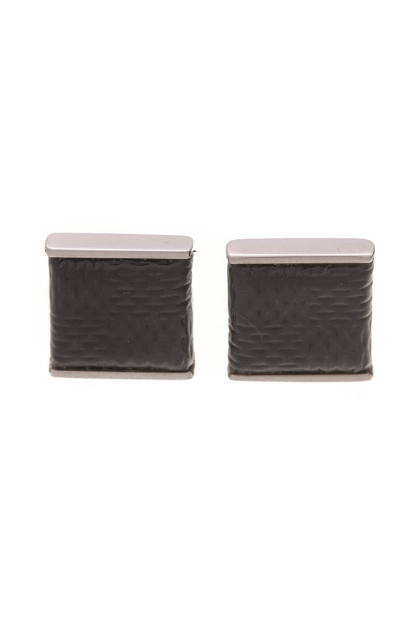 Louis Vuitton Cufflinks Damier Graphite Silver
