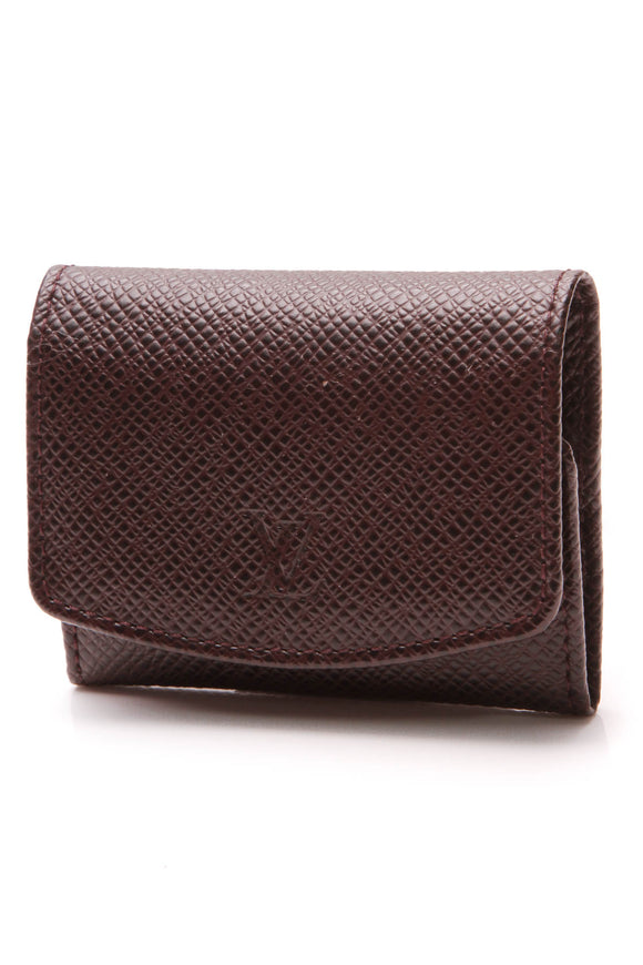 Louis Vuitton Cufflinks Case Dark Burgundy