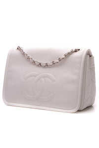 Chanel Timeless Flap Bag - White